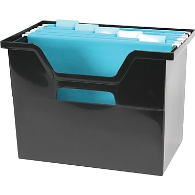 Iris® Large Black Open Top File Box