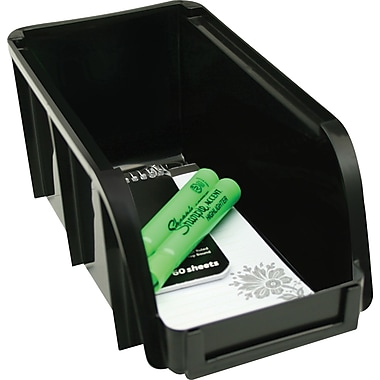 Staples® Black Stacking Bin, Medium