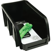 Staples® Medium Stacking Bin, Black (110080)