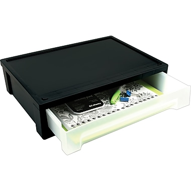 Iris® Large Black Desk Top Stacking Drawer