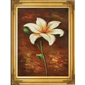 Hand Painted in.Golden Elegance Tiger Lillyin. Framed Artwork