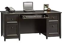 Sauder® Edgewater Collection Executive Desk, Estate Black