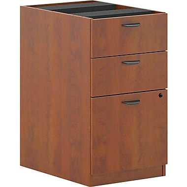 basyx by HON BL Collection, 3-Drawer Pedestal File, Medium Cherry