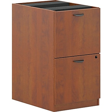 basyx by HON BL Series Pedestal File Cabinet for use with BL Series Office or Computer Desks, Medium Cherry