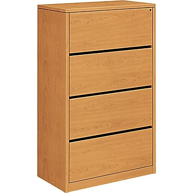 HON 10500 Series 4-Drawer Lateral File, Harvest
