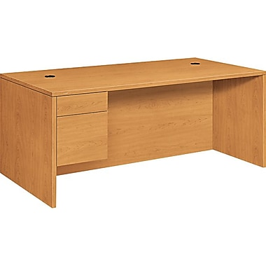 HON 10500 Series Left Pedestal Office Desk or Computer Desk 72in.W