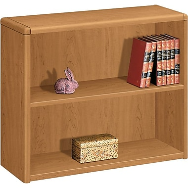 HON® 10700 Series 2-Shelf Bookcase, Harvest
