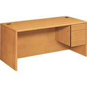 HON® 10700 Series 66 Right Single Pedestal Desk, Harvest