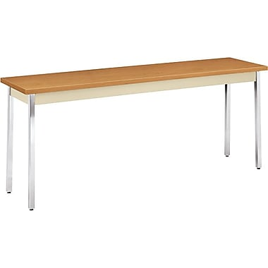 HON 6' Non-Folding Laminate Utility Table, Hravest/Putty, 18in.W