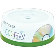 Memorex CD-RW Discs, 700MB/80 Minute, 4x, Spindle, Silver, 25/Pk