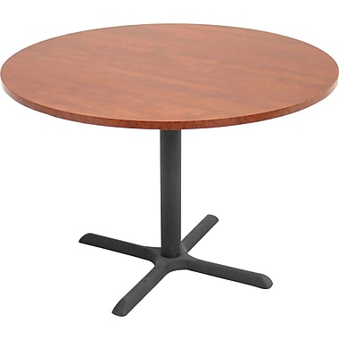 Regency® Legacy 42in. Round Conference Table with Metal Base, Cherry