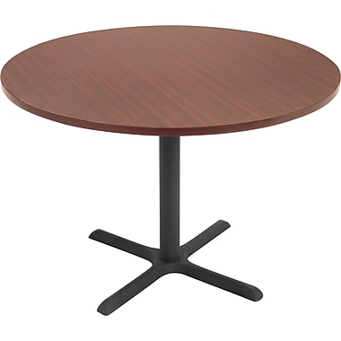 Regency® Legacy 42in. Round Conference Table with Metal Base, Mahogany