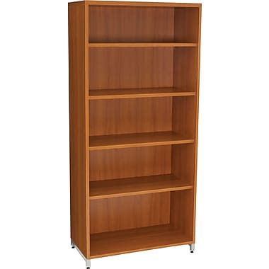 Regency® OneDesk Collection 5 Shelf Bookcase, Amber Finish