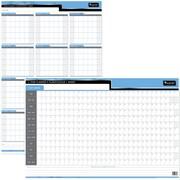 Planificateur souple réversible Day-Timer d'un an, horizontal/vertical, 24 po x 36 po, bilingue