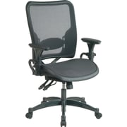 Office Star Space Seating Ergonomic AirGrid Chair, Adjustable Arms, Black