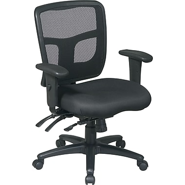 Office Star™ Ergonomic Pro Grid Mid-Back Task Chair, Black