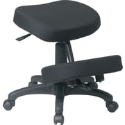 Office Star™ Ergonomic Fabric Knee Chair, Black
