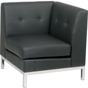 Avenue Six Wall Street Collection Corner Chair, Black