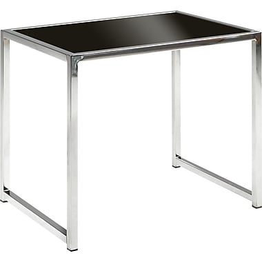 OSP Designs™ Wall Street End Table, Chrome and Black