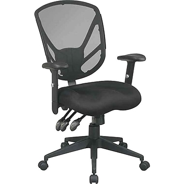 Office Star Mesh Multifunction Task Chair, Black