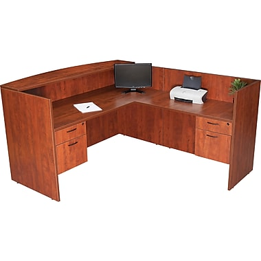 Regency® Sandia Complete Office Solution, Reception Desk, Cherry