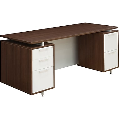 Regency® OneDesk Collection 71in. Double Pedestal Desk, Java/White Finish