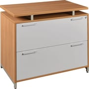 Regency® OneDesk Collection 2 Drawer Lateral File, Amber/White Finish