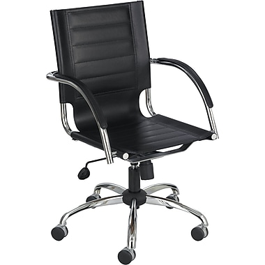 Safco® Flaunt™ Leather Manager's Chair, Black