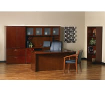 Mayline® Mira Series Wood Veneer Reception Desk Shells