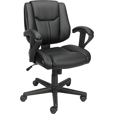 Staples® Telford™ Luxura Task Chair, Black