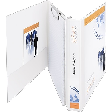 1-1/2in. Avery® Durable View Portfolio Binder with Clipboard and EZ-Turn Ring, White