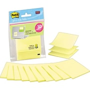 "Post-it® 3"" x 3"" Canary Yellow Laptop Pop-Up Note Refills, 10/Pack"