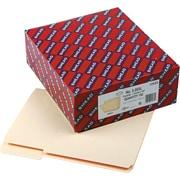 "Smead Top Tab File Folders, 1/3 Cut Assorted, Manila, Letter,  8 1/2"" x 11"", 100/Bx"
