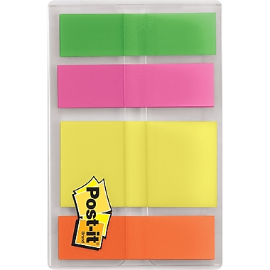 Post-it® 1/2in. and 1in. Assorted Multicolor Highlighting Flags, 80 Flags/Pack