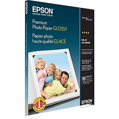 Epson® Premium Glossy Photo Paper, 8-1/2