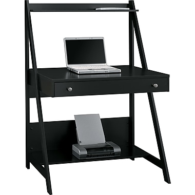Bush MY72701-03 Alamosa Ladder Desk, Black