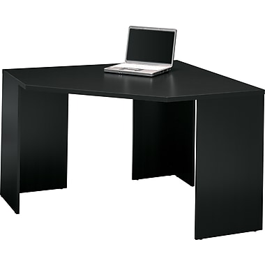Bush Furniture Stockport Collection Corner Desk, Classic Black (MY62902-03)