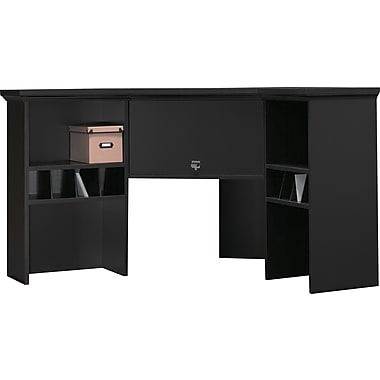Bush® Stockport Collection Corner Hutch, Classic Black