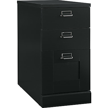Bush® Stockport Collection 3 Drawer Pedestal, Classic Black