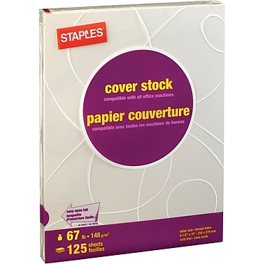 Staples® Pastel Coloured Cover Stock, 8-1/2