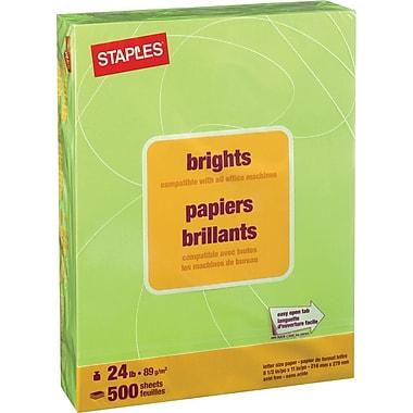 Staples® - Papier à copies de couleur Brights, format lettre, 8 1/2 po x 11 po
