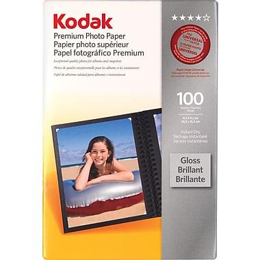 Kodak - Papier pour photos Premium 4 po x 6 po, lustré , paq./100