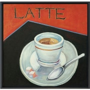 Hand Painted Latte 12x12 Framed Artwork
