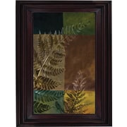 Hand Painted Oil Art Nature's Ferns I 26x30 Framed Artwork