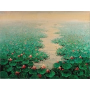 Hand Painted Lilly Pads Artwork