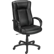 Staples® Haywood™ Bonded Leather Managers Chair, Black