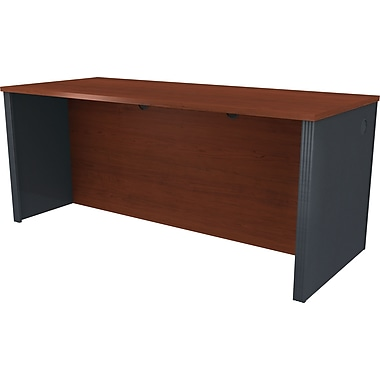 Bestar Prestige+ Executive Desk Shell, Bordeaux Cherry/Graphite