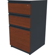 Bestar Prestige+ Pedestal, Fully Assembled, Bordeaux Cherry/Graphite