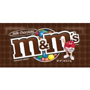 M&M's Milk Chocolate, 1.69 oz. Bags, 36/Bx