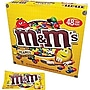 M&m's Peanut Candy, 1.74 Oz. Bags, 48 Bags/box
